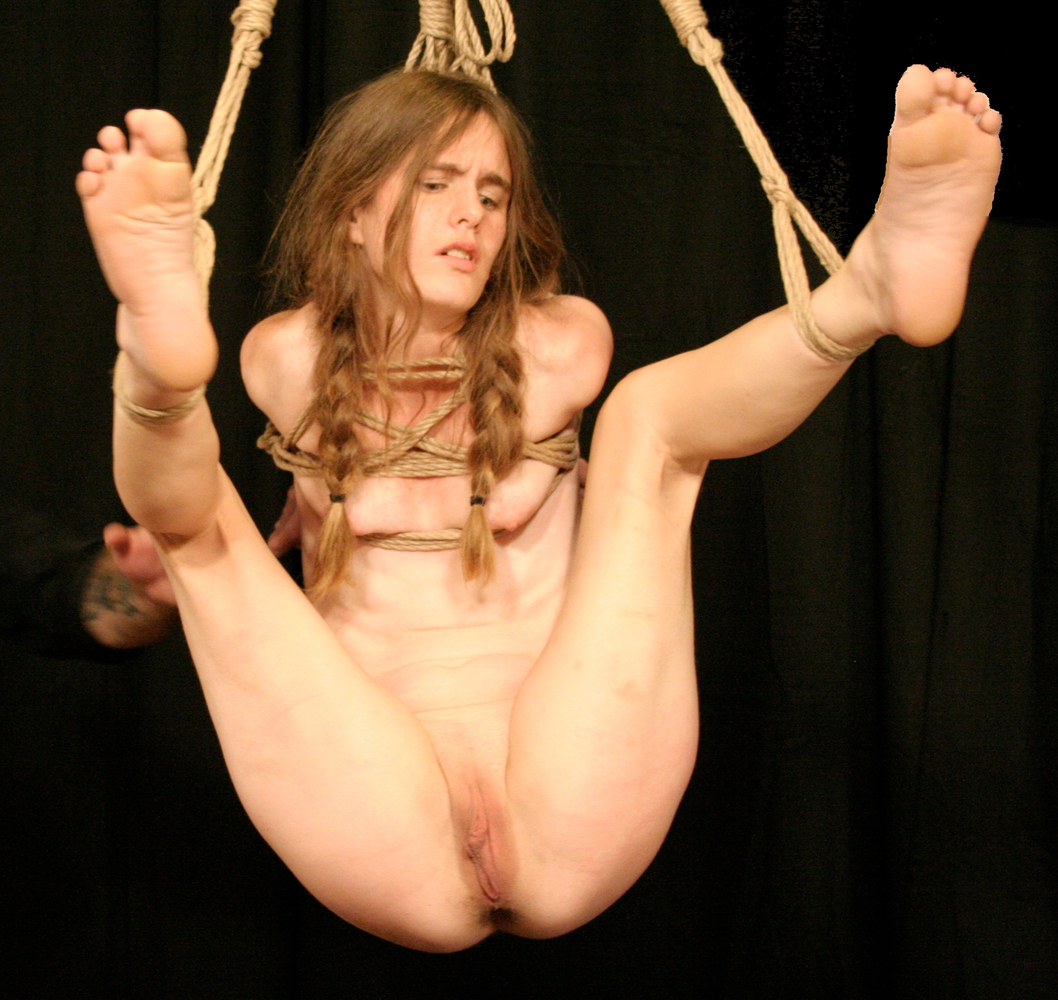 Nude bondage girl helpless thank