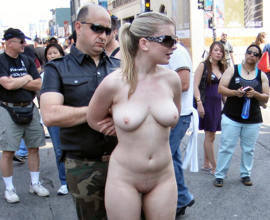 In naked submissive public girl