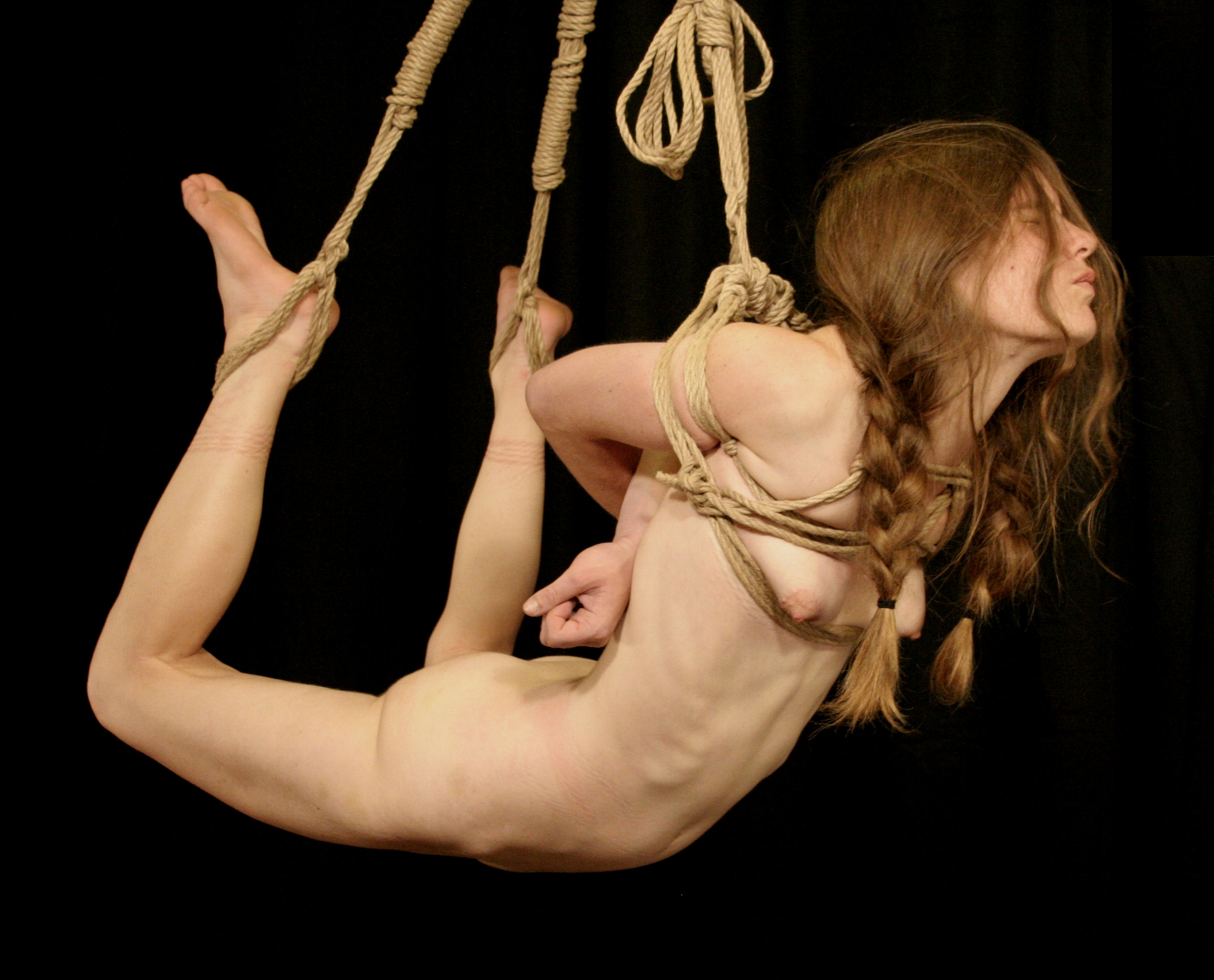 Woman hanged bdsm adult doll