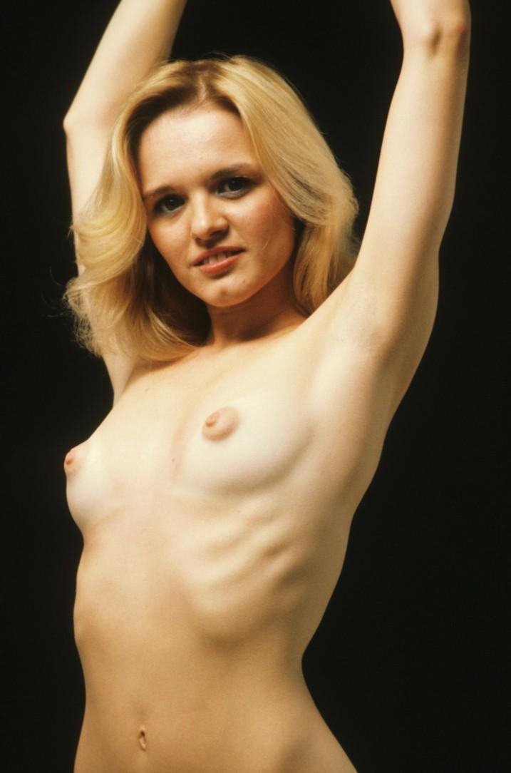 Skinny bond with puffy nipples