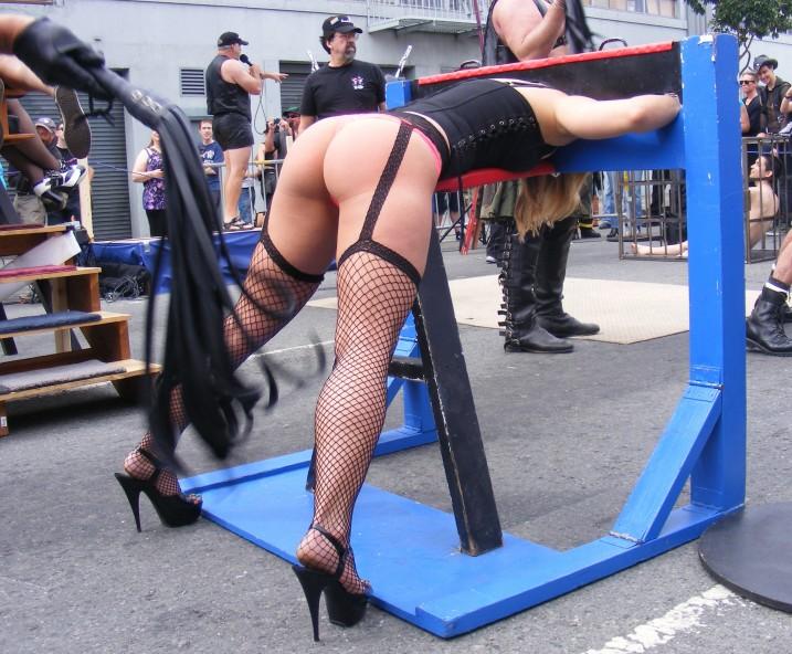 Public bondage and punishment